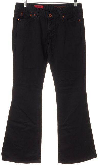 AG ADRIANO GOLDSCHMIED Black Solid The Club Flare Jeans