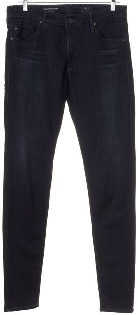 AG ADRIANO GOLDSCHMIED Blue The Farrah High-Rise Skinny Jeans