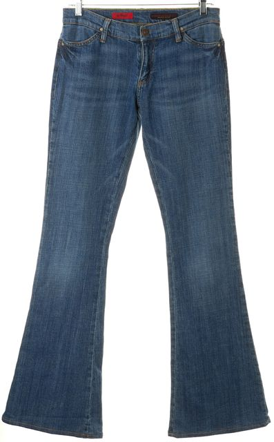 AG ADRIANO GOLDSCHMIED Blue Stretch Cotton Angel Flare Jeans