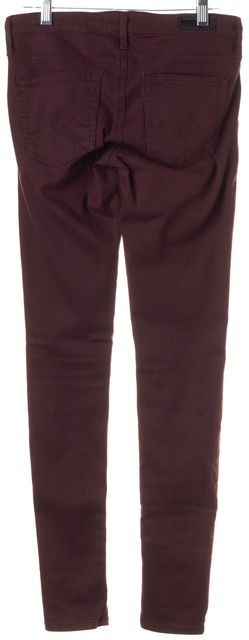 AG ADRIANO GOLDSCHMIED Dark Burgundy Red The Absolute Legging Jeans