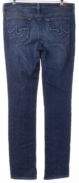 AG ADRIANO GOLDSCHMIED Blue Stretch Cotton Premiere Straight Leg Jeans
