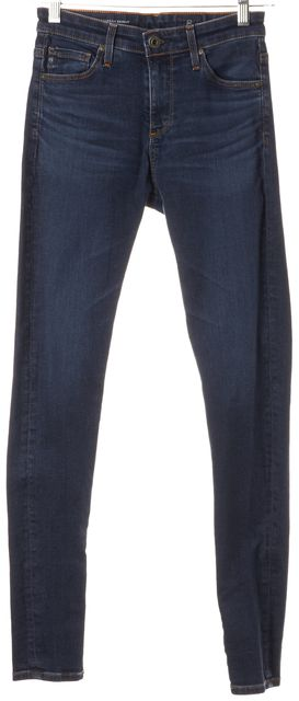 AG ADRIANO GOLDSCHMIED Blue Farrah High Rise Skinny Jeans