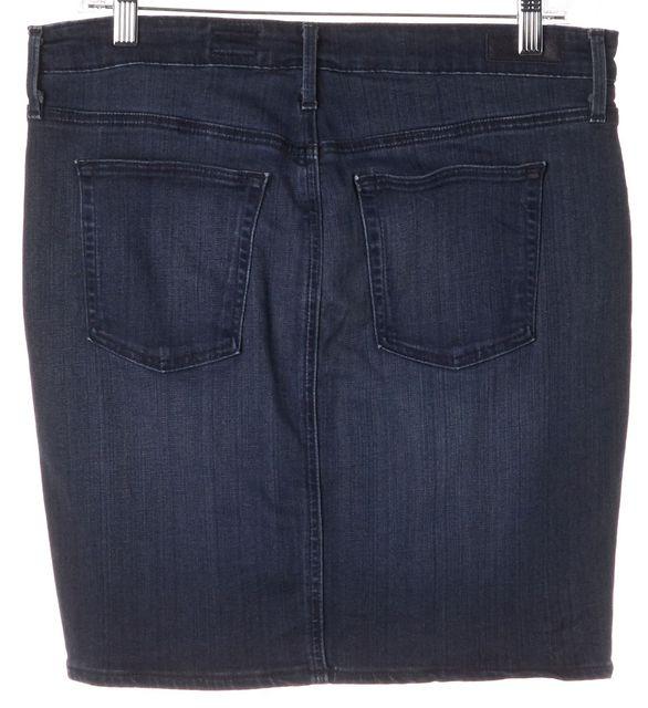 AG ADRIANO GOLDSCHMIED Blue The Kodie Biker Pencil Stretch Denim Skirt