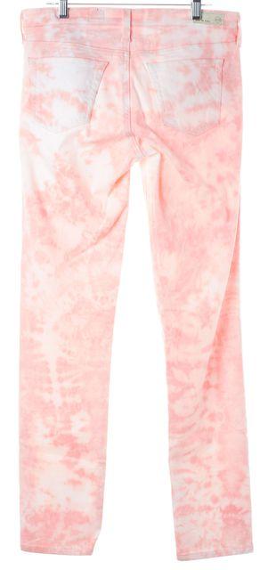 AG ADRIANO GOLDSCHMIED Pink Tie Dye Stilt Cigarette Skinny Jeans
