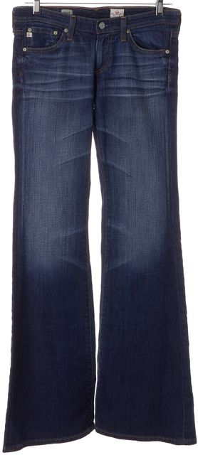 AG ADRIANO GOLDSCHMIED Blue Medium Wash Cotton Denim Belle Flare Jeans