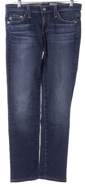 AG ADRIANO GOLDSCHMIED Blue The Stilt Cigarette Leg Low Rise Skinny Jeans