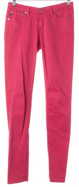 AG ADRIANO GOLDSCHMIED Hot Pink Stilt Cigarette Skinny Jeans