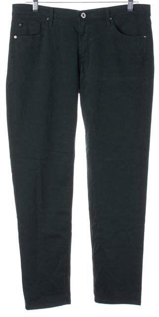 AG ADRIANO GOLDSCHMIED Green The Stevie Ankle Straight Slim Fit Jeans