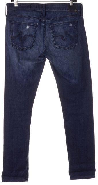 AG ADRIANO GOLDSCHMIED Blue Distressed Nolan Relaxed Slim Fit Jeans