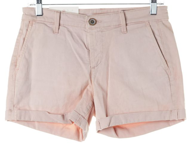 AG ADRIANO GOLDSCHMIED Pink Tristan Tailored Denim Shorts