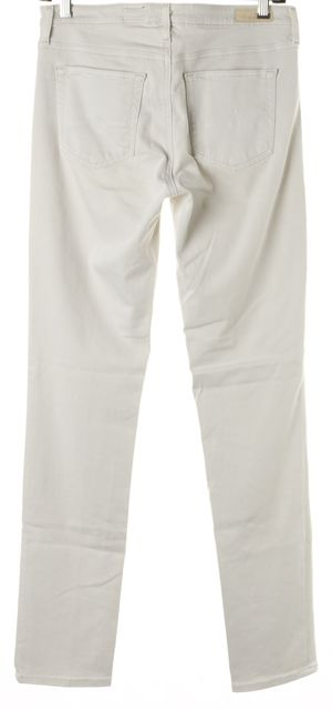 AG ADRIANO GOLDSCHMIED Light Gray Prima Mid Rise Skinny Jeans