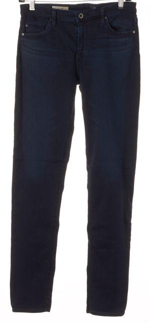 AG ADRIANO GOLDSCHMIED Dark Blue Prima Mid Rise Cigarette Skinny Jeans