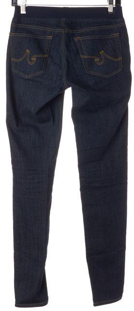 AG ADRIANO GOLDSCHMIED Blue Dark Wash Stretch Cotton Leggings