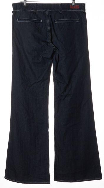 AG ADRIANO GOLDSCHMIED Blue Everette Trouser Pant Wide Leg Jeans