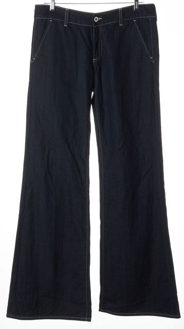 AG ADRIANO GOLDSCHMIED Blue Everette Trouser Pant Wide Leg Jeans