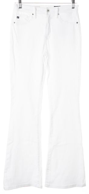 AG ADRIANO GOLDSCHMIED White Janis High Rise Flare Jeans