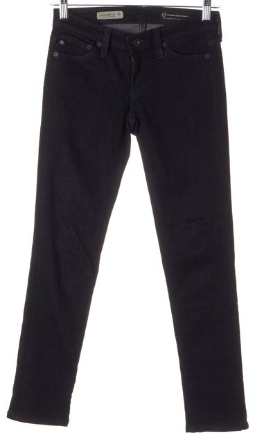AG ADRIANO GOLDSCHMIED Black Legging Super Skinny Jeans
