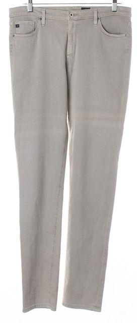 AG ADRIANO GOLDSCHMIED Light Gray Prima Mid-Rise Cigarette Skinny Jeans