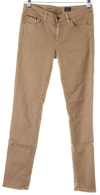 AG ADRIANO GOLDSCHMIED Brown Stevie Ankle Zip Slim Straight Leg Jeans