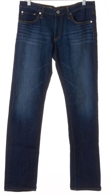 AG ADRIANO GOLDSCHMIED Blue The Premiere Skinny Straight Leg Jeans
