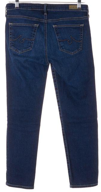 AG ADRIANO GOLDSCHMIED Blue Stilt Cigarette Cropped Jeans