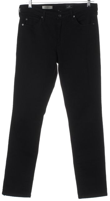 AG ADRIANO GOLDSCHMIED Black The Mid Rise Stevie Skinny Jeans