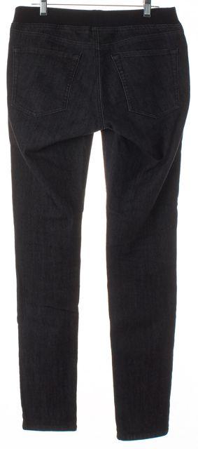 AG ADRIANO GOLDSCHMIED Black Denim Stretch Knit Waist Skinny Jeans