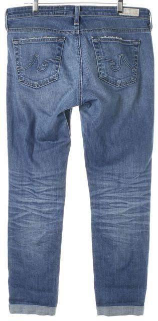AG ADRIANO GOLDSCHMIED Blue Stilt Roll-Up Cigarette Leg Jeans
