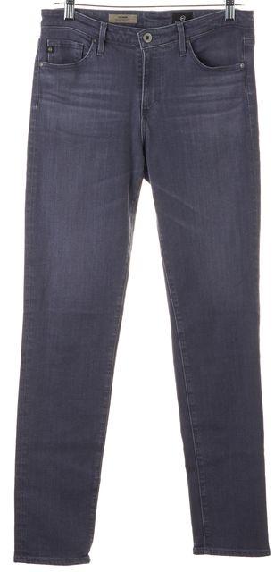 AG ADRIANO GOLDSCHMIED Gray Prima Mid-Rise Cigarette Skinny Jeans
