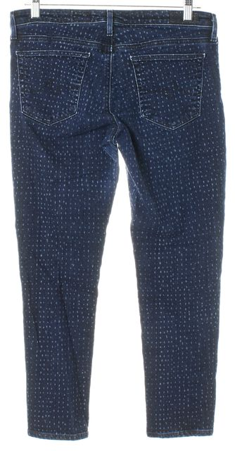 AG ADRIANO GOLDSCHMIED Blue Stevie Ankle Petite Slim Straight Leg Jeans