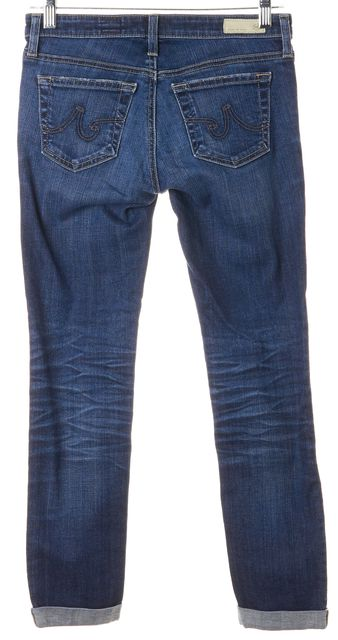 AG ADRIANO GOLDSCHMIED Blue Stilt Roll-Up Slim Fit Jeans