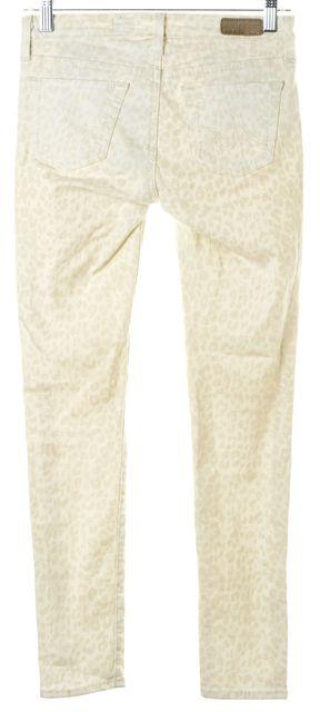 AG ADRIANO GOLDSCHMIED Ivory Beige Leopard Print Legging Ankle Pants