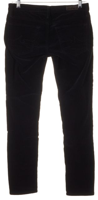 AG ADRIANO GOLDSCHMIED Black Moto Stevie Ankle Corduroy Pants