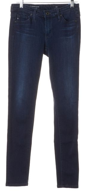 AG ADRIANO GOLDSCHMIED Blue Dark Wash Legging Ankle Super Skinny Jeans