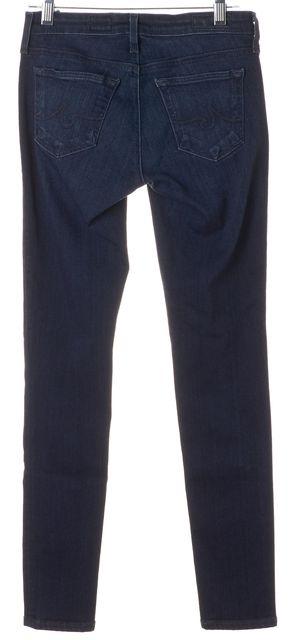 AG ADRIANO GOLDSCHMIED Blue Dark Wash Legging Ankle Super Skinny Jeans