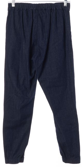 AG ADRIANO GOLDSCHMIED Navy Blue Ankle Zip Denim Jogger Pants