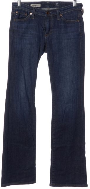 AG ADRIANO GOLDSCHMIED Blue Angelina Petite Boot Cut Jeans
