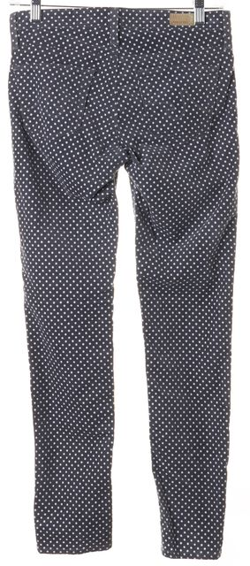 AG ADRIANO GOLDSCHMIED Gray White Polka Dot Stevie Corduroys Pants