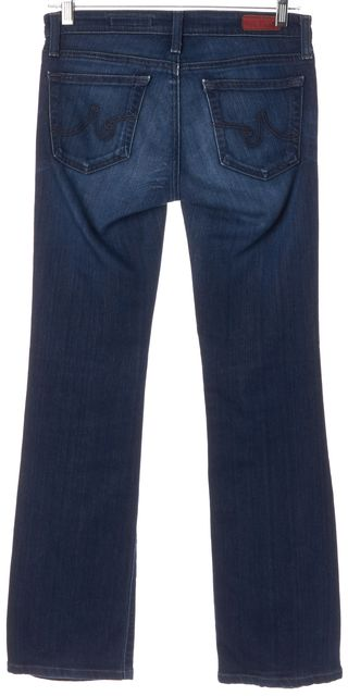 AG ADRIANO GOLDSCHMIED Blue Wash Stretch Cotton The Angel Boot Cut Jeans