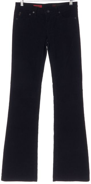 AG ADRIANO GOLDSCHMIED Black Angel Corduroy Pants