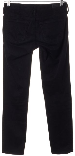 AG ADRIANO GOLDSCHMIED Black The Stilt Crop Slim Fit Jeans