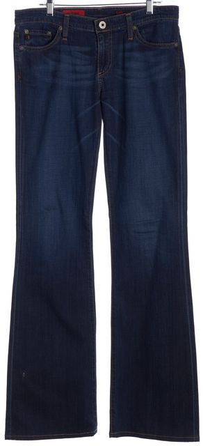 AG ADRIANO GOLDSCHMIED Blue Medium Wash The Angel Wide Leg Jeans