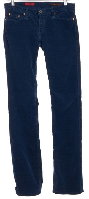 AG ADRIANO GOLDSCHMIED Navy Blue The Angel Corduroy Straight Leg Jeans