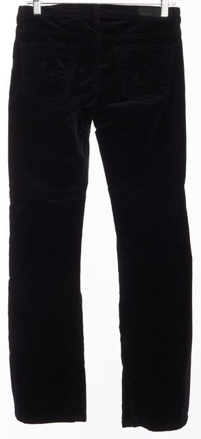 AG ADRIANO GOLDSCHMIED Black The Angel Corduroy Boot Cut Jeans