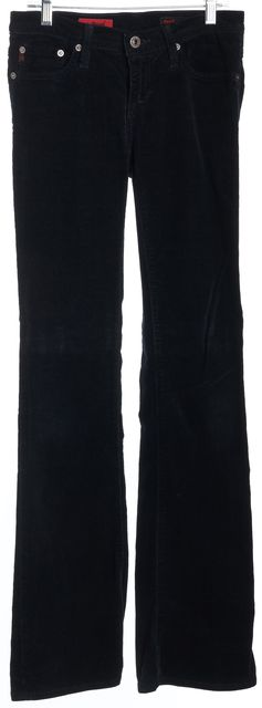 AG ADRIANO GOLDSCHMIED Navy The Angel Corduroys Pants