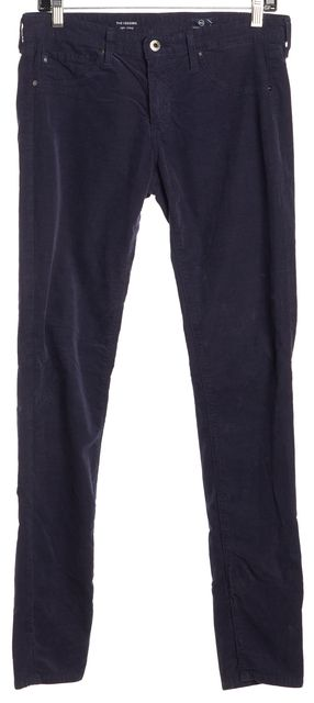 AG ADRIANO GOLDSCHMIED Navy Blue Super Skinny Legging Corduroys Pants