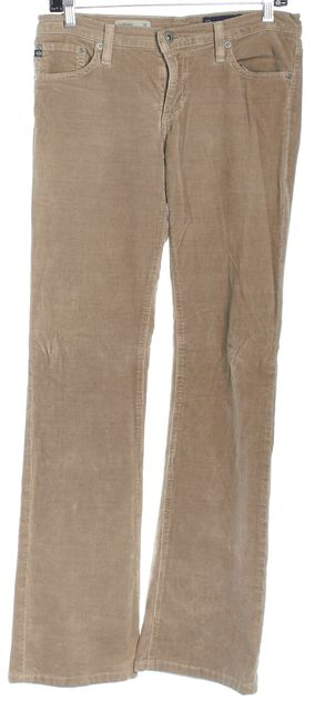 AG ADRIANO GOLDSCHMIED Beige Corduroy the Angel Boot Cut Jeans