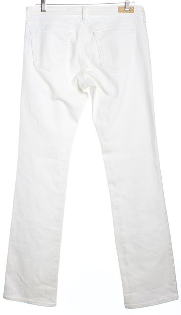 AG ADRIANO GOLDSCHMIED White Wide Leg Button Front The Ballard Skinny Jeans