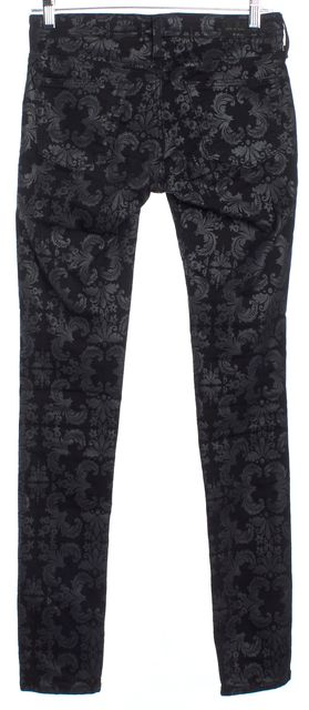 AG ADRIANO GOLDSCHMIED Black Lace Print Pants
