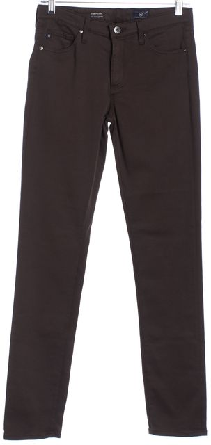 AG ADRIANO GOLDSCHMIED Brown 'The Prima Mid-Rise Cigarette' Skinny Jeans